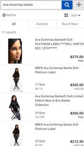 Duvernay Barbie Ebay Prices