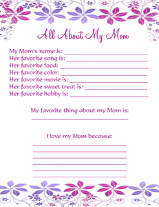 Mother's Day Ideas, Mother's Day Printables, Free Mother's Day