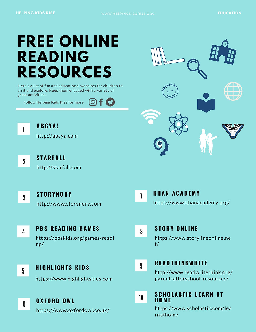 Online reading websites for children