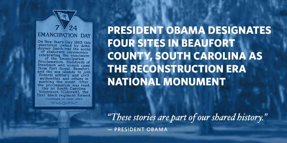 Reconstruction Era South Carolina President Obama Beaufort