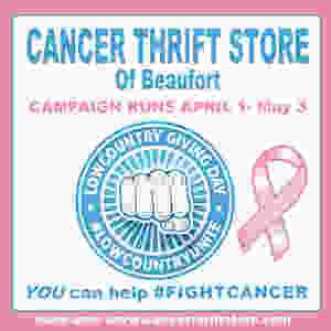 Cancer Thrift Store of Beaufort #CancerAwareness #ChildhoodCancer