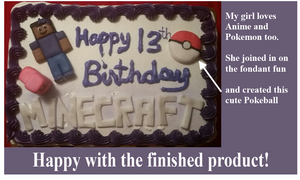 Minecraft cake for black girls