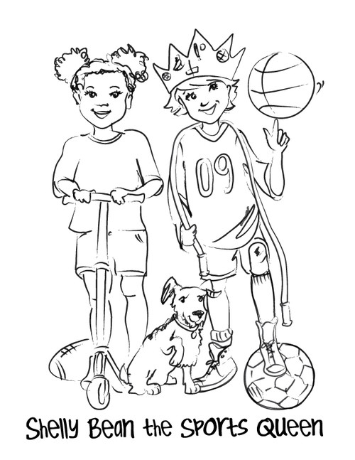 Shelly Bean The Sports Queen Coloring Page