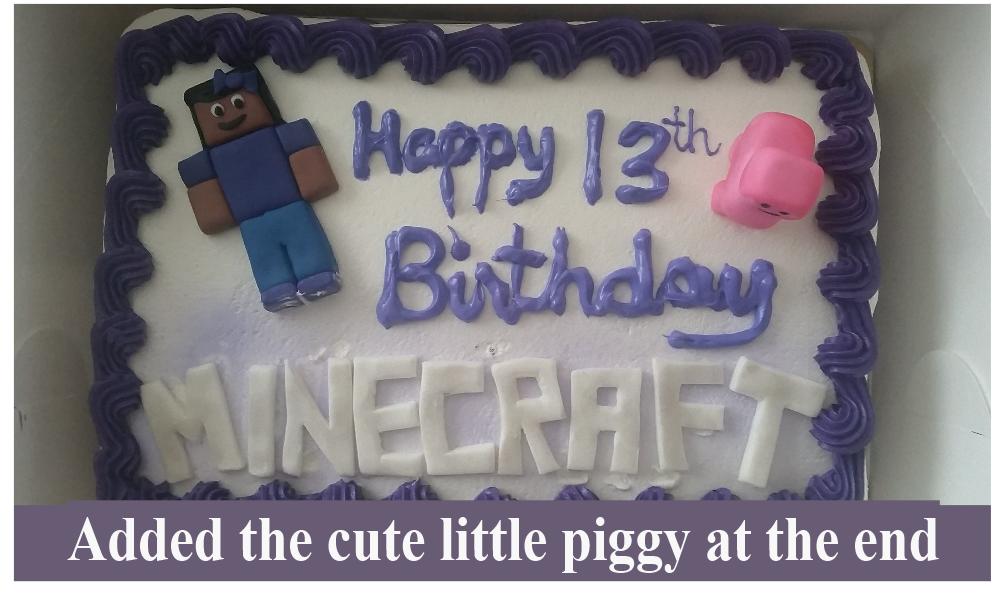 Minecraft cake for girls