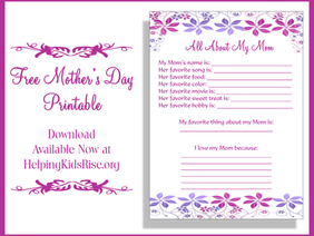 Free Mother's Day Printable and Other Awesome Mother's Day Ideas