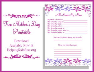 Free Mothers Day Gift, Mothers Day Printable, Mothers Day Ideas