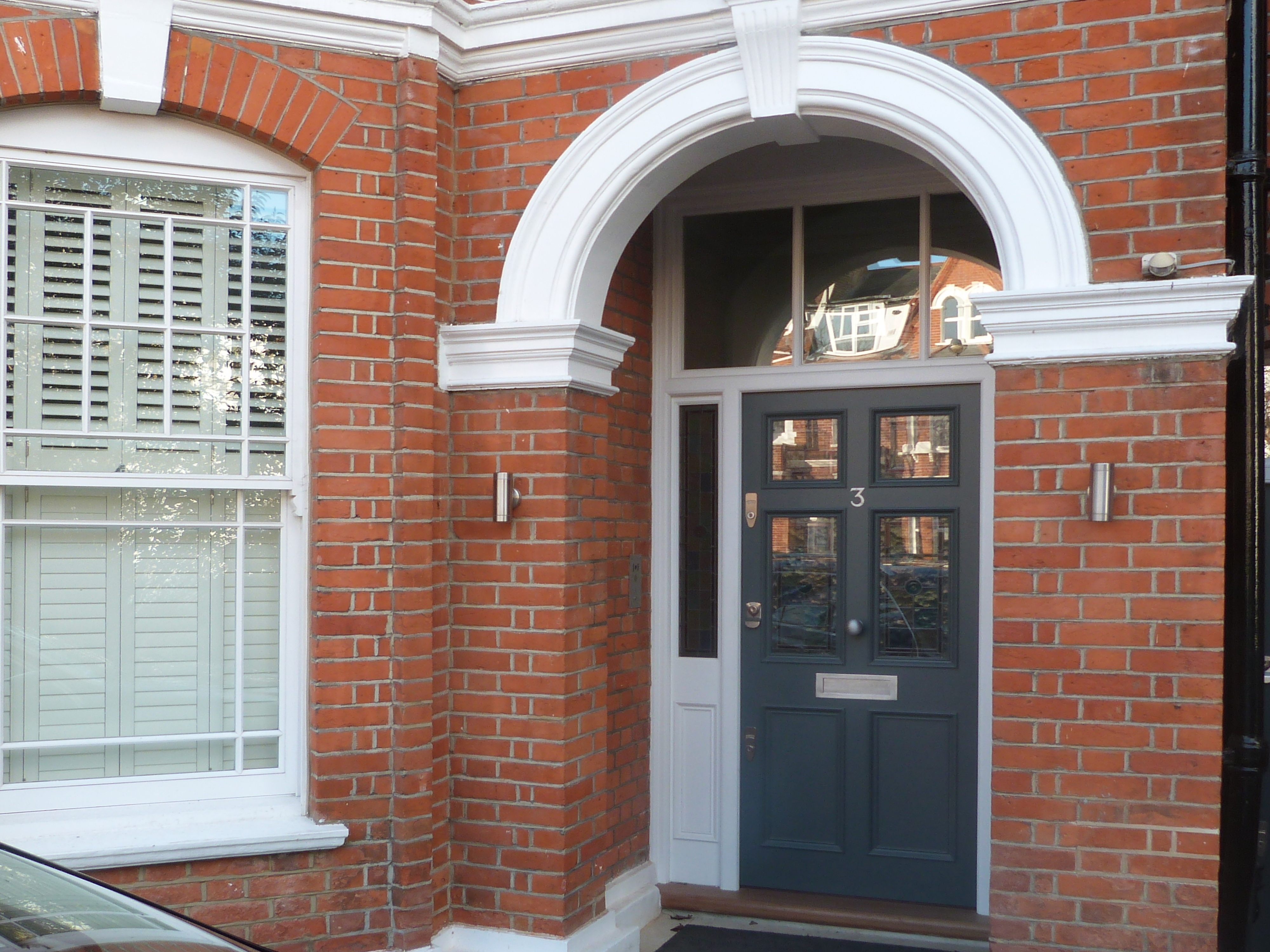 Traditional front door in London