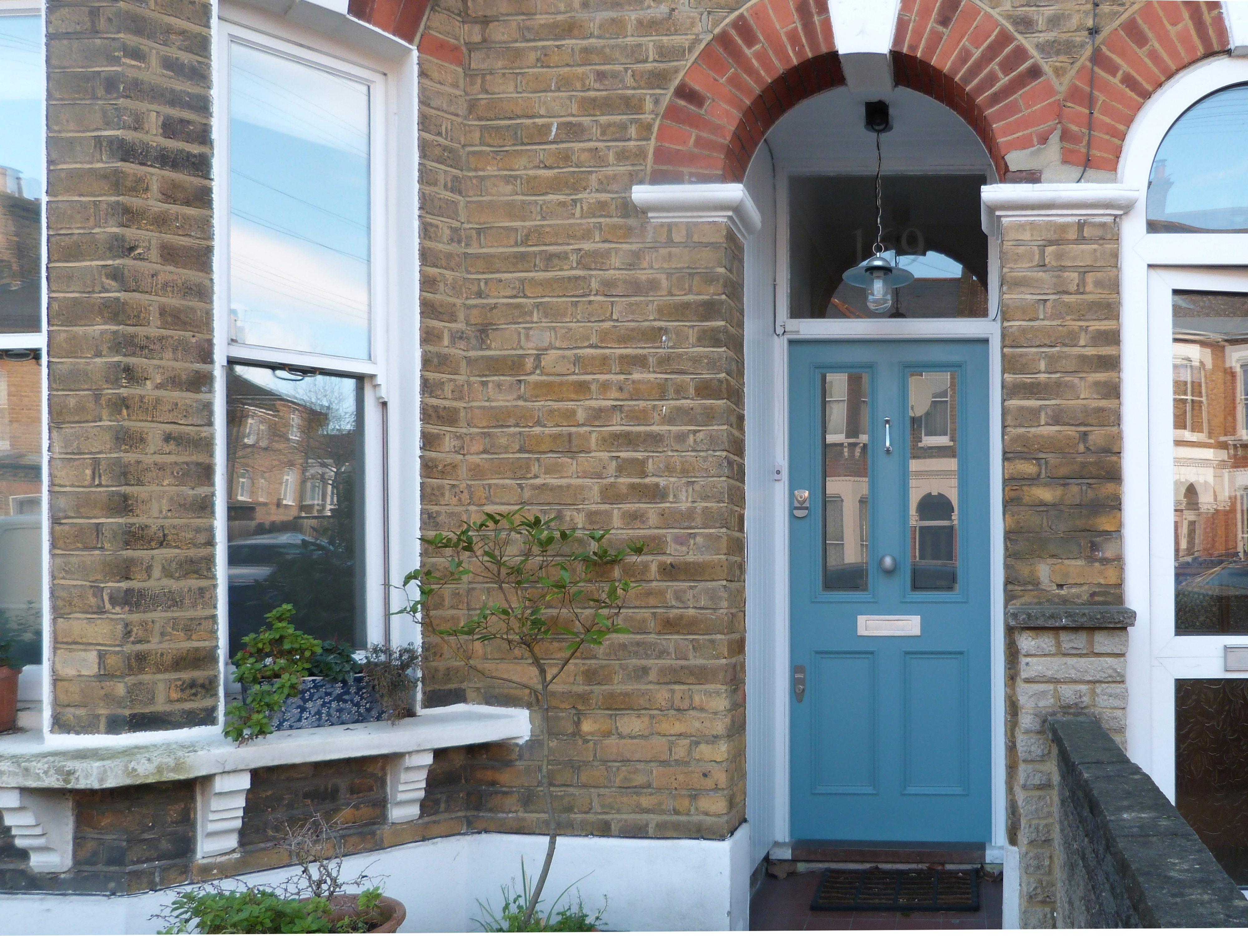 Victorian front door in south London