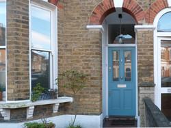 Victorian front door in south London