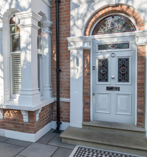 Period front door in south London