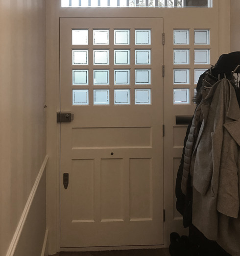 White period front door in south west Lo