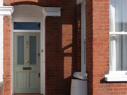 Period front door in London