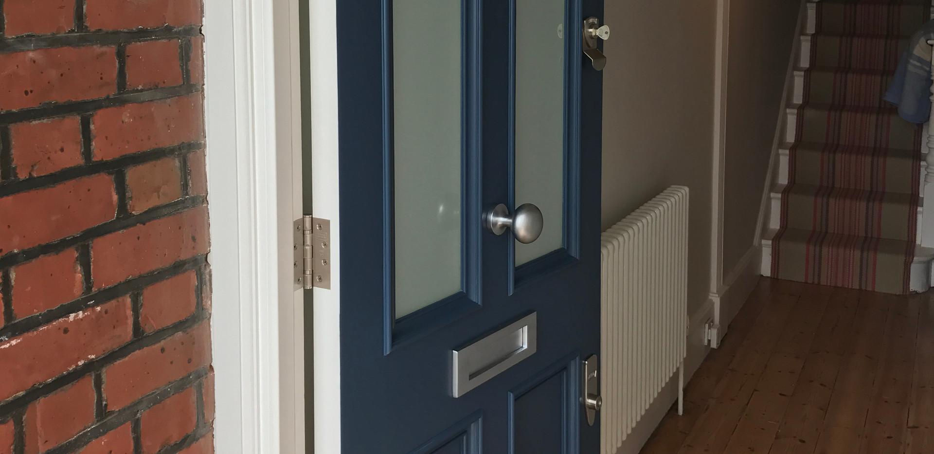 Blue Victorian front door