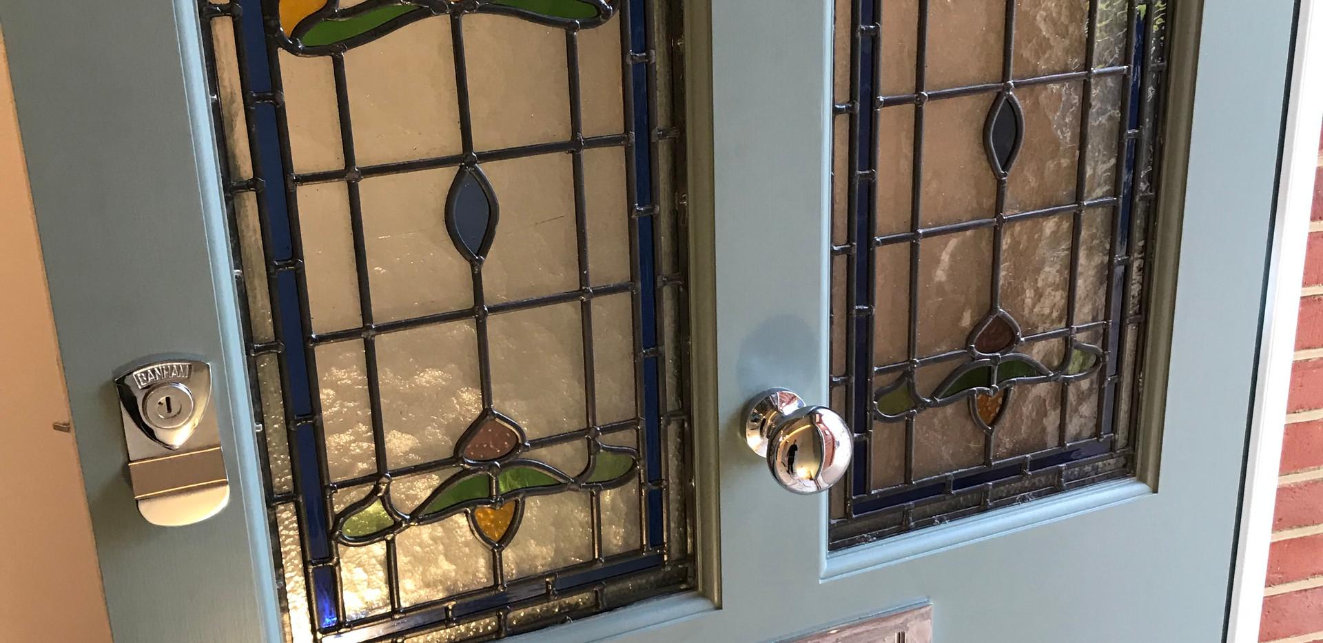 Victorian front doors in west London