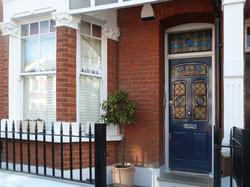 Edwardian front door in south London