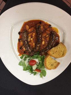 Lamb sausage appetizer