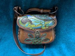 """Saoirse"" dragon carved handbag"