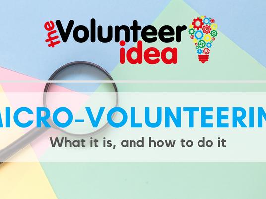 Micro-volunteering - because every little helps...