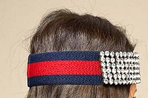 G Shock Bling Headband Blue