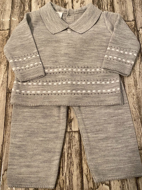 Grey and white two piece