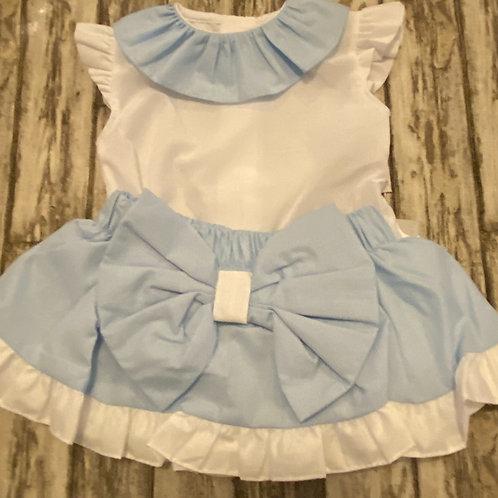 Baby blue girls set