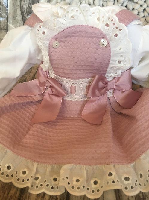 Rose bib and brace dress