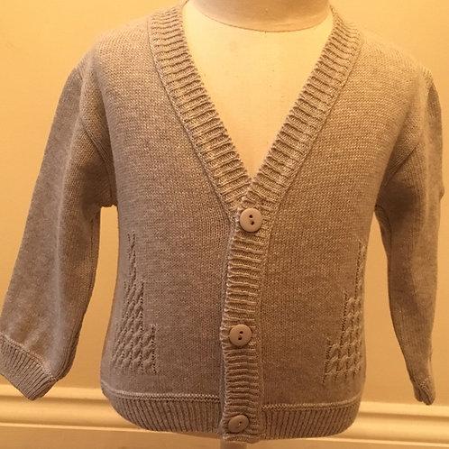 Fine knit grey cardigan