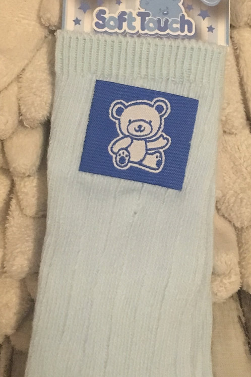 Long light blue socks