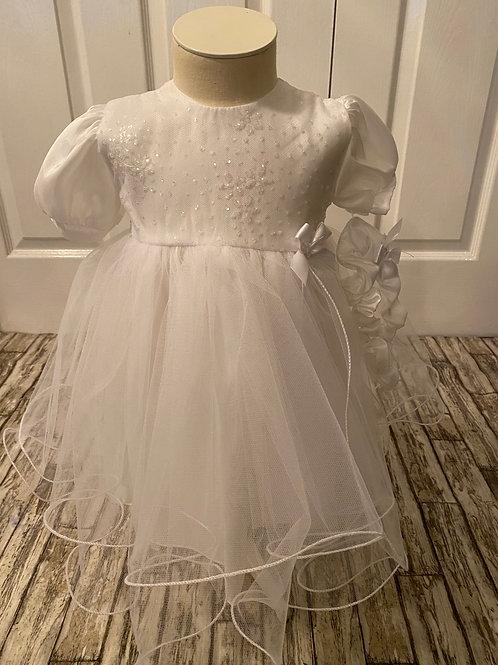 Netted Christening dress