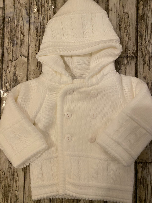 White Cardigan with hood