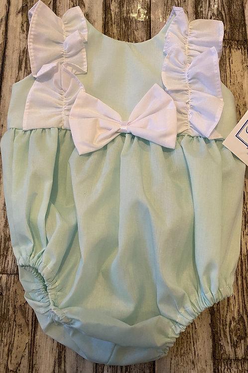 Mint green summer romper