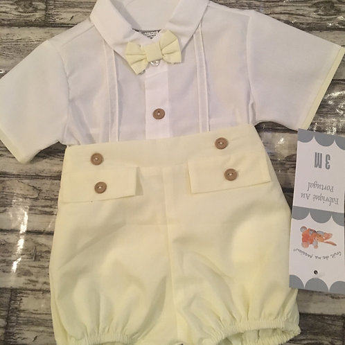 Lemon and white boys suit