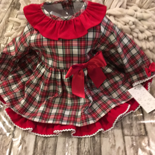 Frilly tartan dress