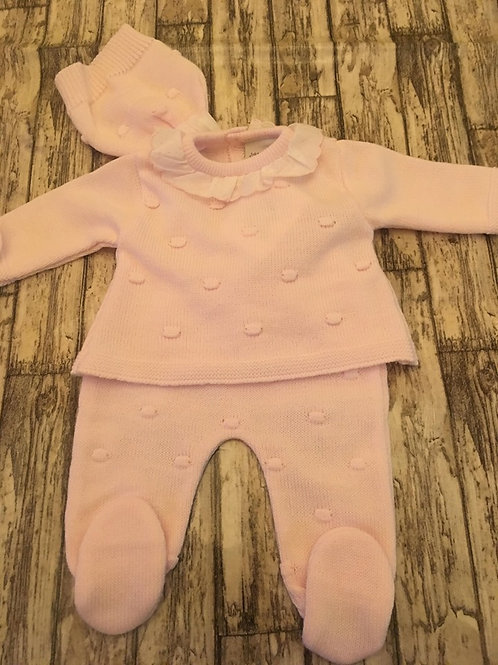 Pink knitted 3piece