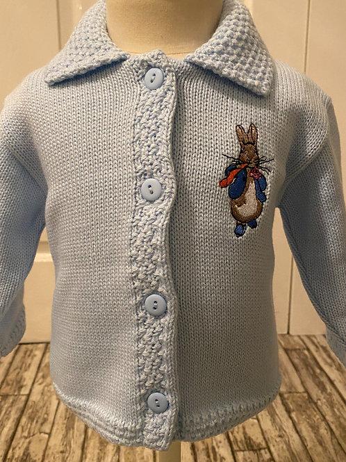 Blue peter rabbit cardigan