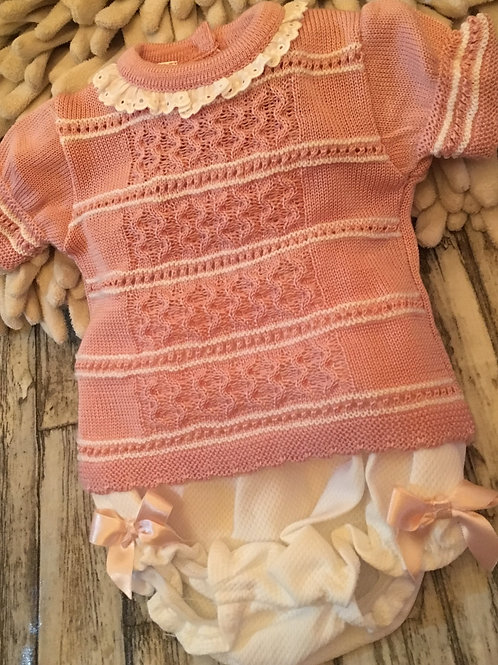 Knitted rose short set