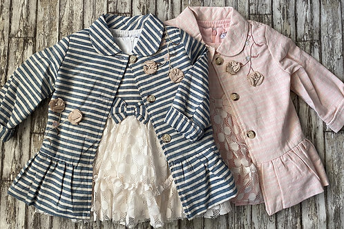 Striped jacket and dress