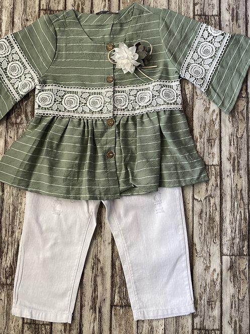 Green short set