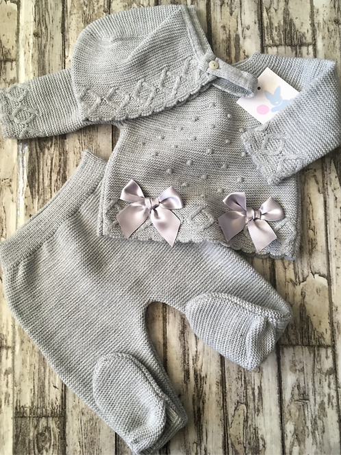 Grey Knitted Set