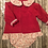 Thumbnail: Red floral dress set