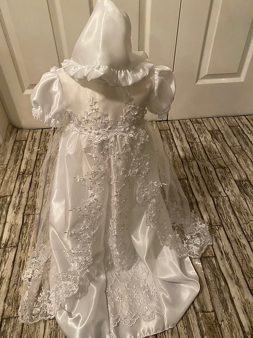 Traditional beaded christening gown