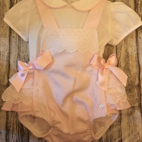 Pink short dungeree
