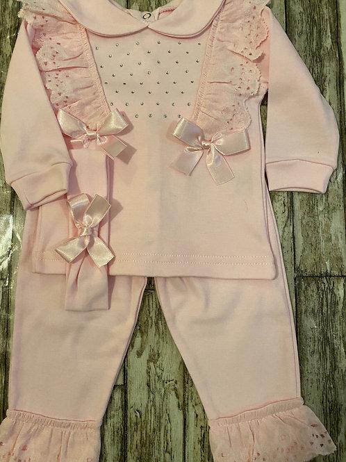 Pink Diamante set