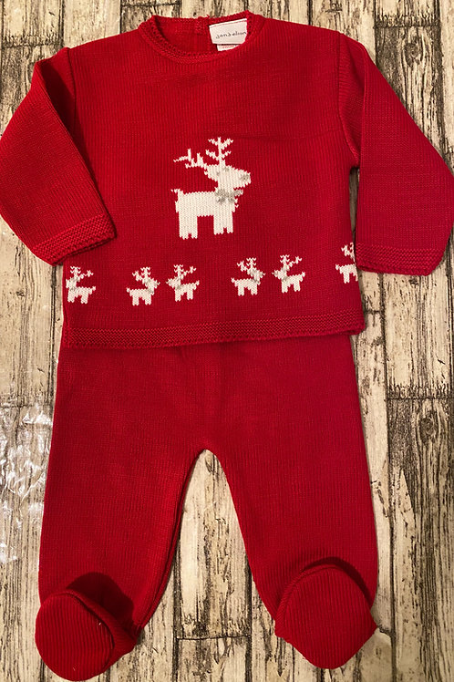 Knitted Christmas suit