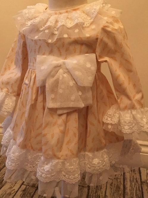 Lacey cream dress