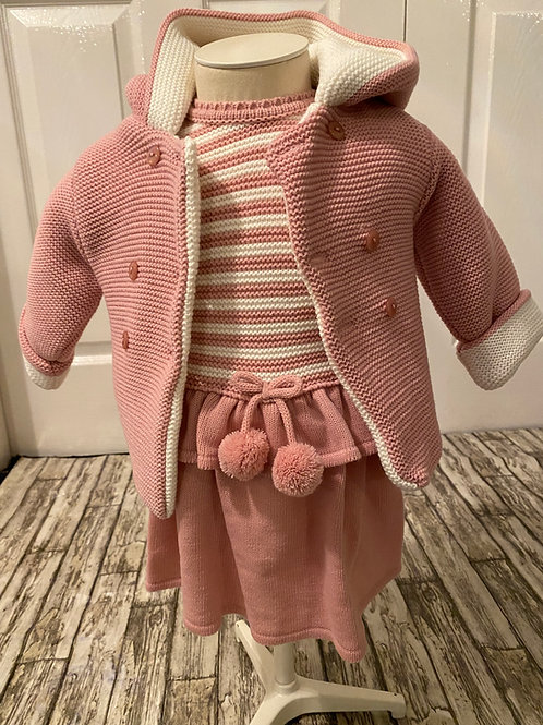 Knitted dress and coat