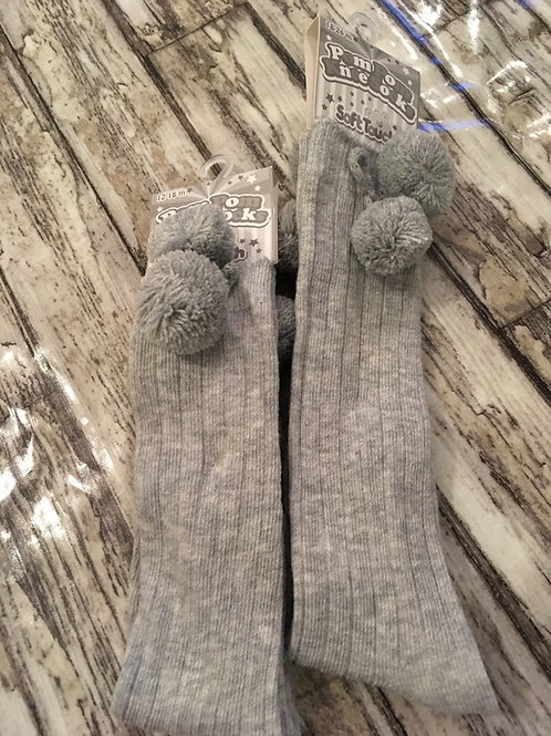 Grey long socks