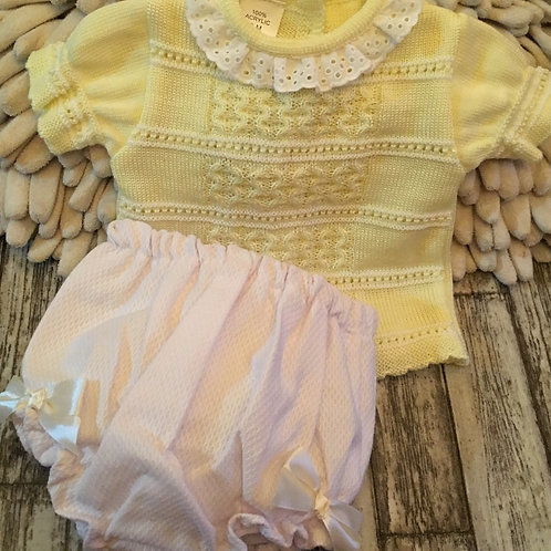 Knitted lemon set