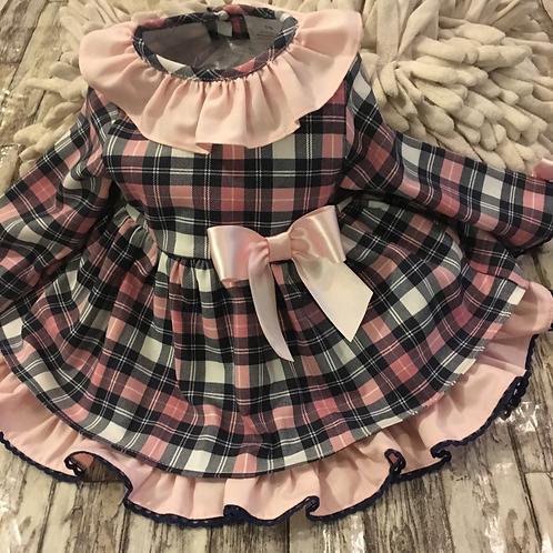 Pink tartan dress