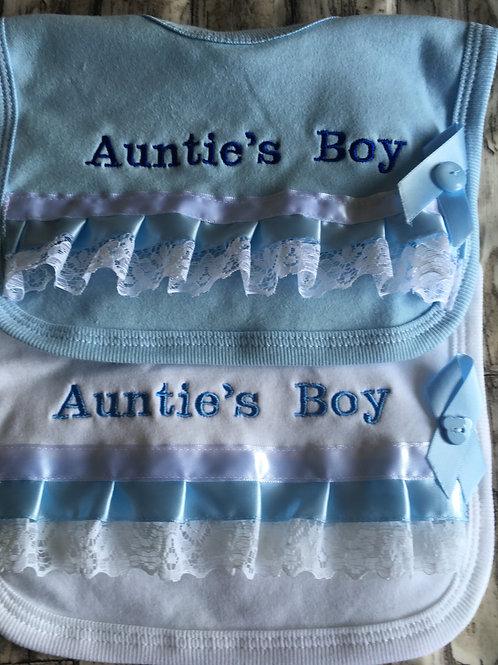 Frilly auntie bib